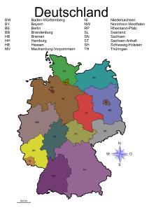 Plz Karte Deutschland Kostenlos Download.Landkarten Drucken Mit Bundesländern Kantonen Hauptstädte