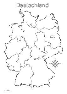 deutschland bundesländer karte pdf Landkarten drucken mit Bundesländern, Kantonen, Hauptstädte