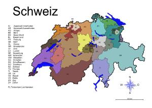 Bundesländer Karte Ohne Namen.Landkarten Drucken Mit Bundesländern Kantonen Hauptstädte