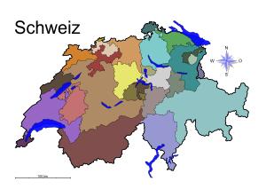 Schweiz Karte Schwarz Weiss.Landkarten Drucken Mit Bundeslandern Kantonen Hauptstadte